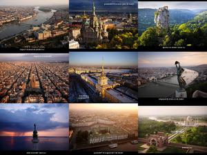 Fotos, die mit einer Drohne aufgenommen wurden