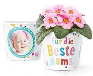 Blumentopf mit Bilderrahmen für zwei Fotos!