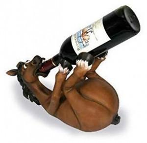 Lustiger Weinflaschen-Halter!