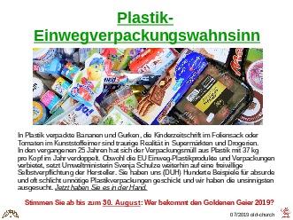 Plastik-Verpackungswahnsinn