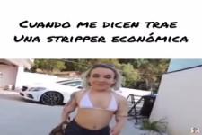 Überraschung mit einer Stripperin