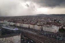 Platzregen über Wien 12.8.2019
