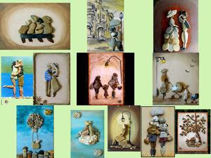 Que des cailloux - Kunst mit Steinen