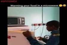 Essen warm machen in der Mikrowelle