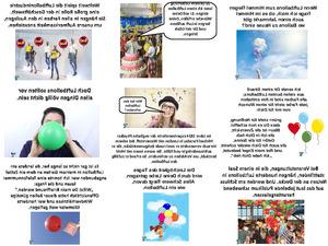 Luftballon ein elastischer Hohlkörper