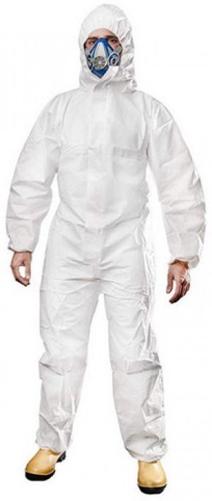 Einweg-Schutzanzug gegen Viren!