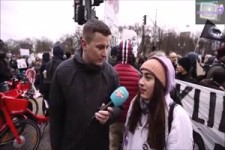 Umfrage an Demonstranten zum Klimawandel
