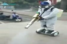so sieht Desinfektion in China aus