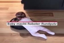 Baby macht Roboter-Rundputz