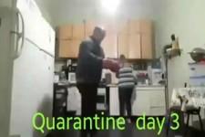 Männer in Quarantäne
