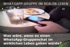 WhatsApp-Gruppe im realen Leben