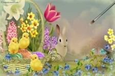 Frühlingshafte Grüße zum Osterfest