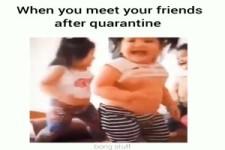 wenn du deine Freunde nach der Quarantäne triffst