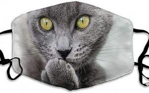 Maske mit Katzen-Motiv!