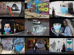 Coronavirus street art from around the world -