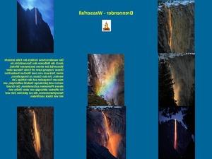 Brennender Wasserfall