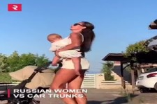 How Russian women close trunks