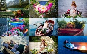 Girls & Flower Boats - Mädchen & Blumenboote