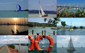 Sailboats on Lake Balaton 1- Segelboote auf dem Plattensee 1