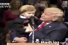 Kleiner Junge und Trump