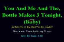 BIG BAD VOODOO DADDY - You and me an the bottle makes three