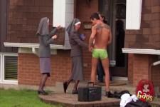 Versteckte Kamera - die Nonnen und der Stripper