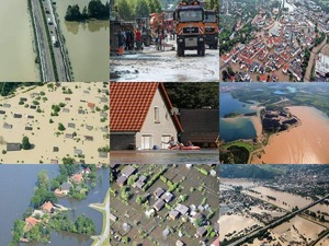 Luftbilder der Flut