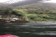 Besondere Art des Boot fahrens