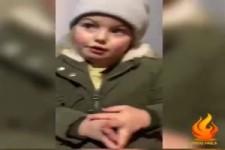 Ein kleines Mädchen erklärt Corona