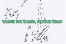Wasch die Hand,schöne Frau, 20 Sekunden ganz genau