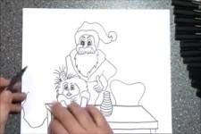 Lustige Weihnachtszeichnungen