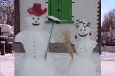 Schneemann oder Schneefrau