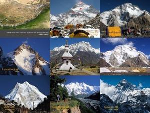 Die hoechsten Berge im Himalaya