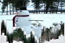 Lustige Schneefiguren