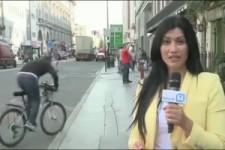 Die harte Arbeit eines Fernseh-Reporters