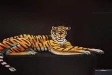 Menschlicher Tiger