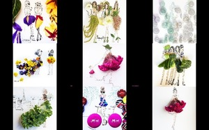 Fashion with flowers Moomooi by Meredith Wing -