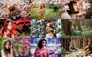 Girls in Spring - Mädchen im Frühling