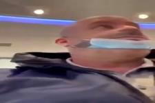 Bitte die Maske anziehen