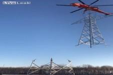 Strommast aufbauen