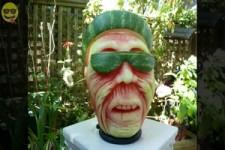 Wassermelonen Schnitzereien