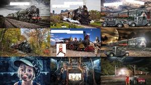 Züge und Schienen